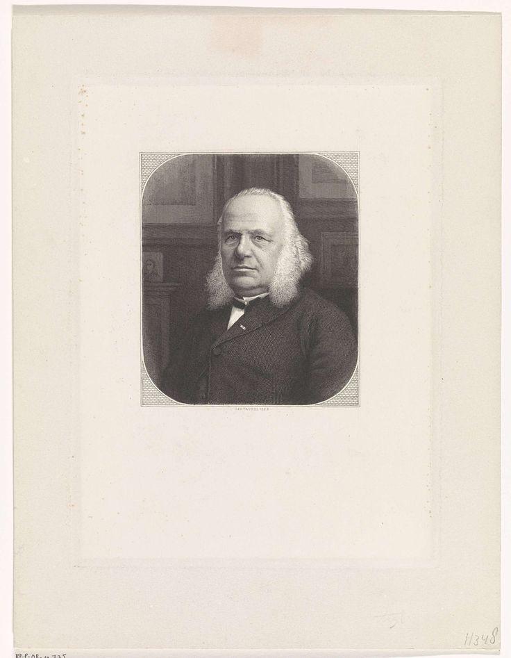 Edouard Taurel | Portret van een heer met bakkebaarden, Edouard Taurel, 1888 | Portret van een onbekende man met bakkebaarden, in een interieur.