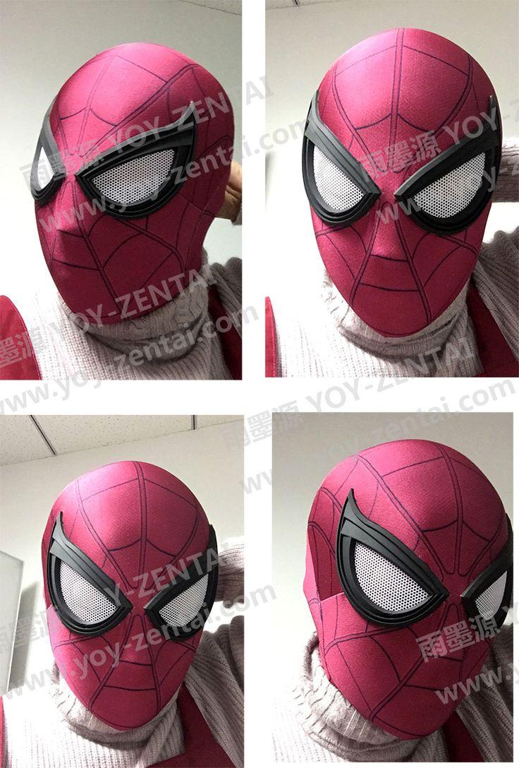 YOY ZENTAI Nueva Guerra Civil Spiderman Máscara Con Lente Nueva Tom Holland Máscara de Spiderman Lycra Spandex Spiderman Face Mask en Disfraces TV y películas hombre de Novedad y de Uso Especial en AliExpress.com | Alibaba Group