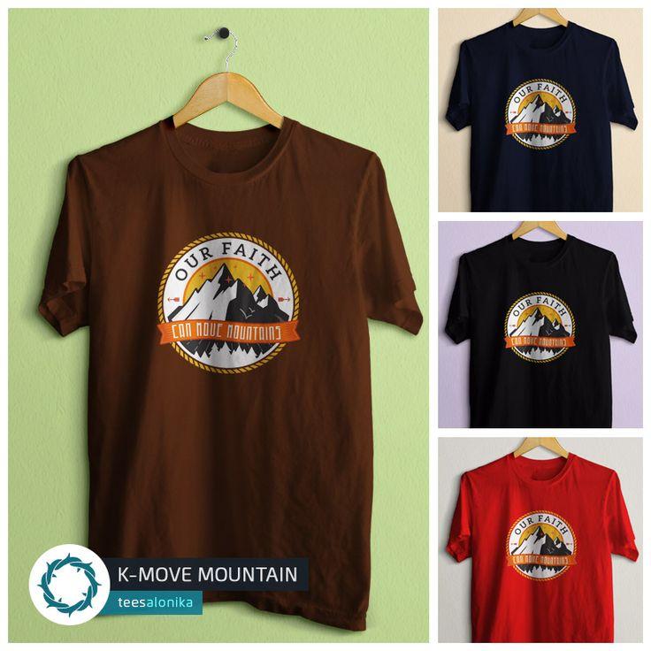 Desain T-shirt berupa ilustrasi iman sebesar biji sesawi yang memindahkan gunung. Info selengkapnya dan spek #kaosRohani ini bisa dilihat di situs Teesalonika.