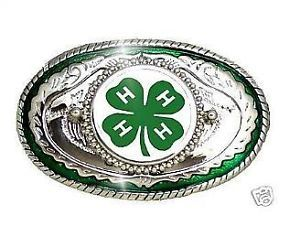 4h belts | 4H FFA Fair Western Country Clover 4 H Belt Buckle USA | eBay