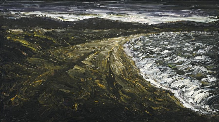 PETER BOOTH PAINTING (DARK SEASCAPE), 1989 111.5 x 198.0 cm