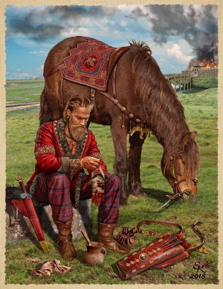 Раненный скифский лучник Северное причерноморье IV век до н.э. Wounded Scythian Archer of the Northern black sea area IV century BC.