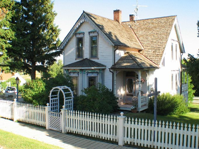 Picture of peaceful victorian front porch in Virgina City Montana.