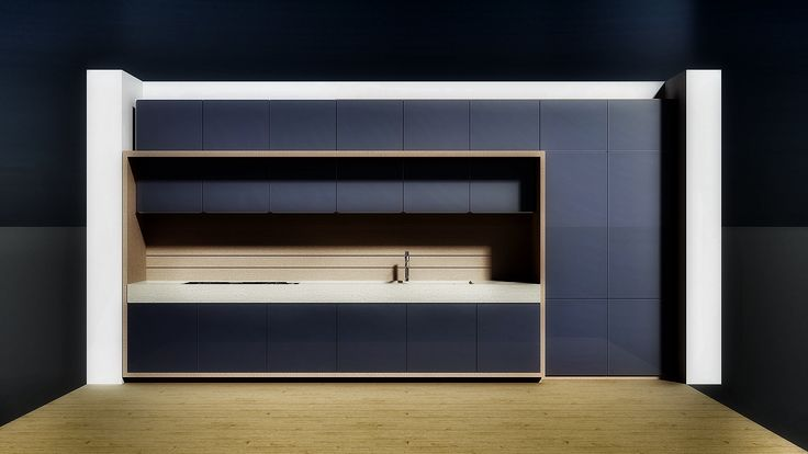 Studio in rendering per prototipo cucina