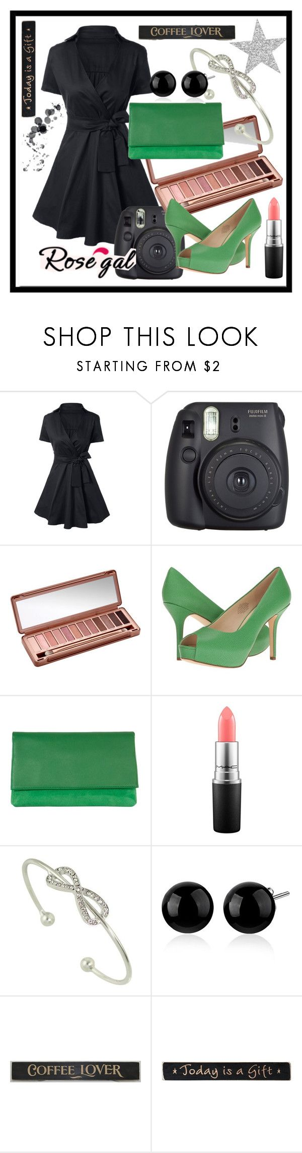 """""""Today#is#a#Gift"""" by bamra ❤ liked on Polyvore featuring Fuji, Urban Decay, Nine West, Karen Millen, MAC Cosmetics, DutchCrafters and vintage"""