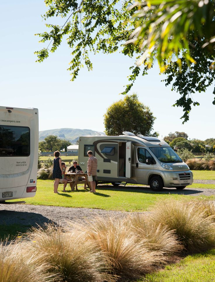 Spacious campervan sties at Martinborough TOP 10. Image thanks to John Slater, The Photo Workshop.
