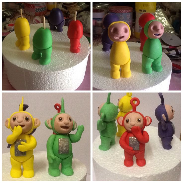 Teletubbies fondant cake toppers