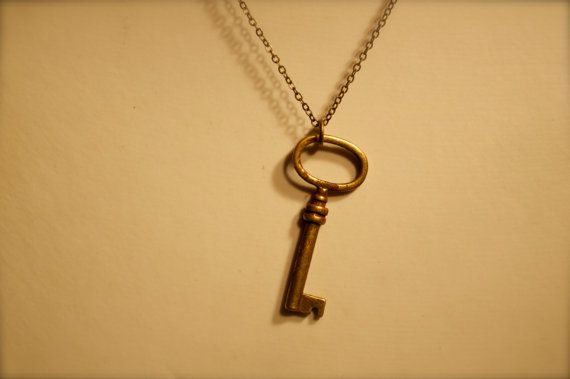 Antique Bronze Key Necklace by dgowin on Etsy, $19.00