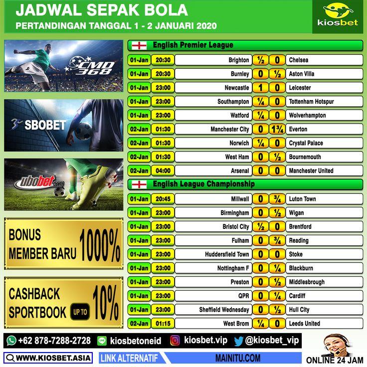 Jadwal Sepak Bola KiosbetAsia Tanggal 1-2 Januari 2020 ...