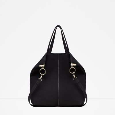 Image 1 of LEATHER TOTE BAG from Zara