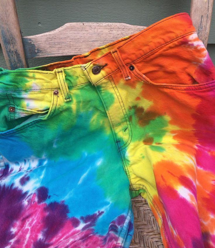 Tie dye Levi's,Women's vintage jeans,tie dye jeans,vintage Levi's,tie dye clothing,hippie clothing,60's 70's,bohemian,retro pants, costume by three20sycamorelane on Etsy https://www.etsy.com/listing/266839731/tie-dye-leviswomens-vintage-jeanstie-dye