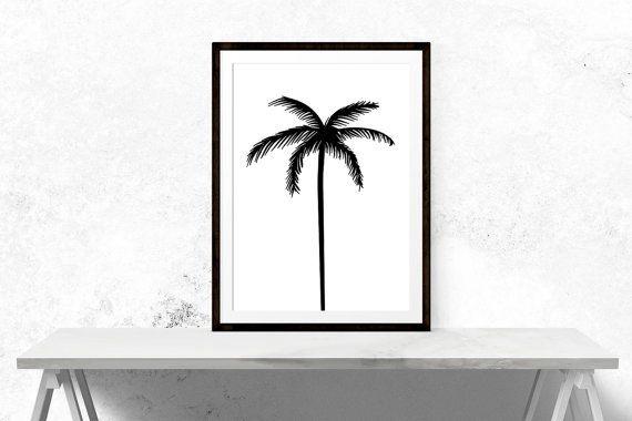 Palm Tree Print / / minimalistisch palmboom motiverende