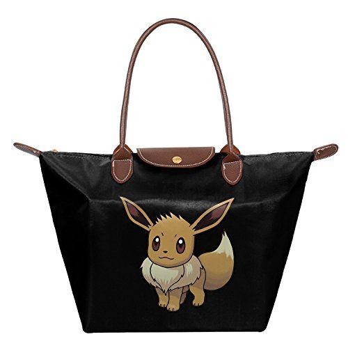 Pokemon Eevee Video Game Women's Stylish Waterproof Hobo Bag Large Tote Shoulder Handbag – Pokemon Coin Purse & Pokemon Bag