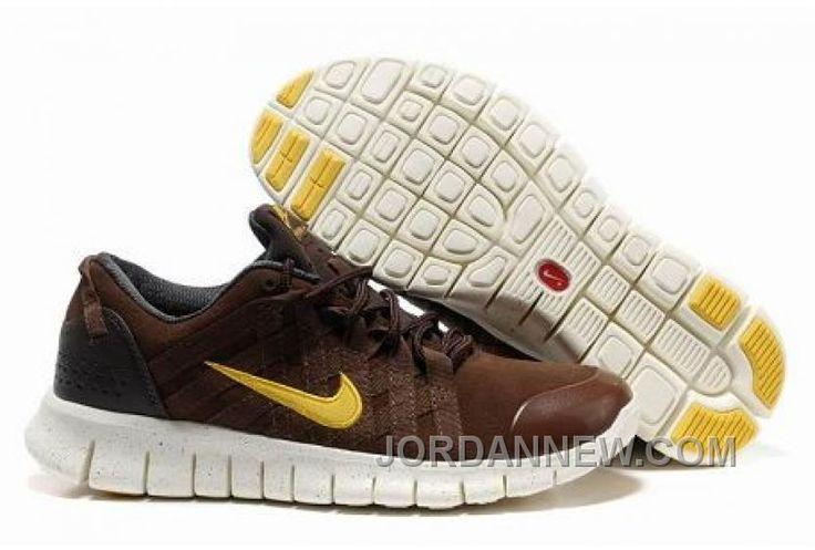 Nike Free Powerlines Premium Men's Running Shoe On Sale Brown/Gold