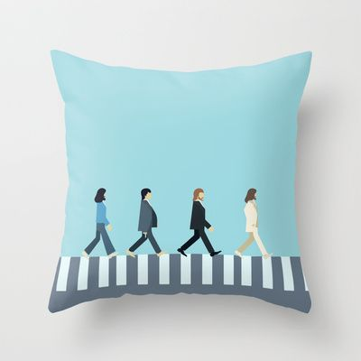 The Beatles Throw Pillow by Victor Trovo Afonso - $20.00