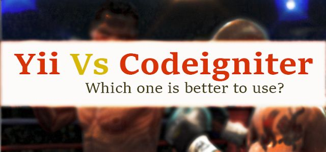 Which is best php framework: #Yii vs #CodeIgniter? Yii and CodeIgniter are the most popular web frameworks used among #PHP developers in the global market today.