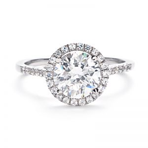 greenwich ceremony collection round micropave diamond halo engagement ring my dream engagement ring - Halo Wedding Rings