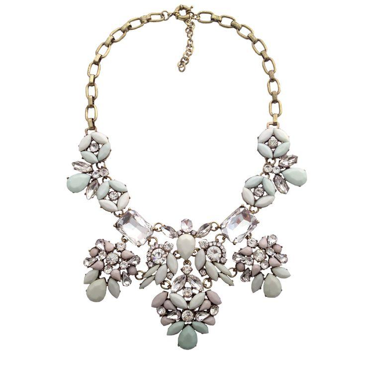 New Arrival 2014 bib  fashion women jewelry crystal necklace & pendant chunky luxury chain choker statement necklace