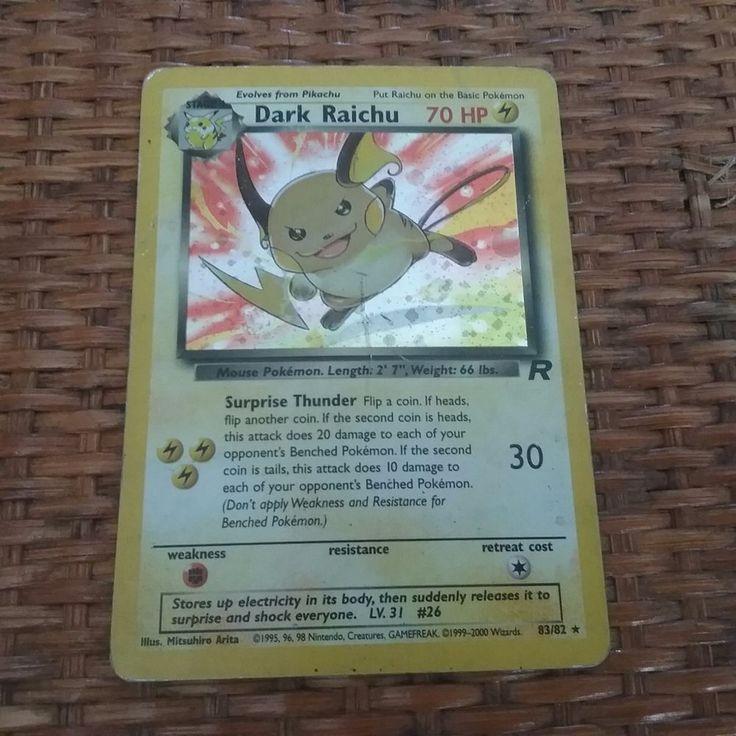 Pokemon PSA 9 1ST EDITION TEAM ROCKET DARK RAICHU 83/82 2000 card set HOLO