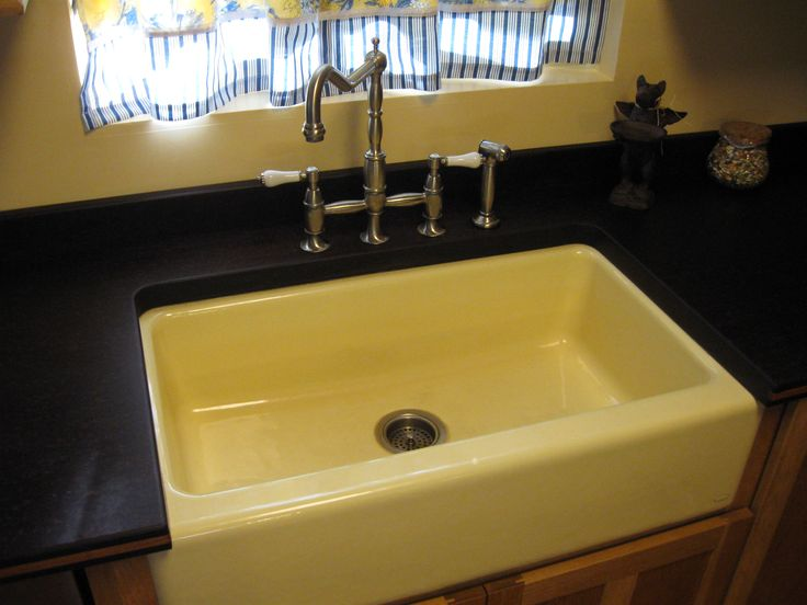 Mocha Paperstone And Banana Yellow Apron Sink Look Great Together |  Paperstone Collections | Pinterest | Apron Sink And Sinks