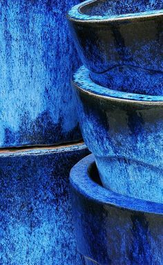 Envie de jardinner. Un balcon en bleu