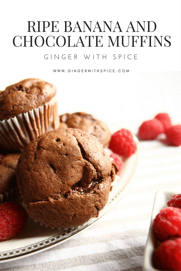 When you've got ripe bananas and don't want to eat them, eat them anyway - in this delicious recipe. Combined with the chocolate, these muffins are so rich and moist, you'd wish you had more bananas so you could make another batch. Click to find the recipe!
