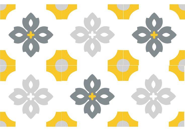 V2-277, carreau ciment floral