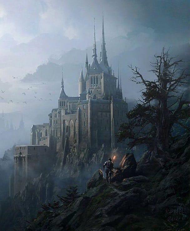 Art by Raphael Lacoste @raphaellacosteart #fantasydaily #fantasy #fantasyart #mythical #adventure #d Fantasy concept art Fantasy landscape Fantasy castle