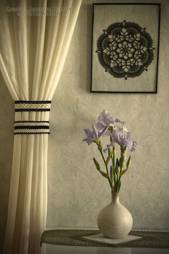 curtain holders of series Luna Luxury clips for by tatajashma #glovahome #textilesforhome