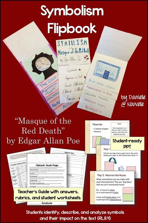"an analysis of the symbolism in the mask of the red death by edgar allan poe ""masque of the red death,"" poe: close reading & literary analysis unit  room  symbolism and source text activity—students analyze the deeper meaning of   to edgar allan poe's classic allegory while practicing the skills necessary for."