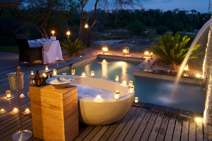 Londolozi Granite Suites, the masters that are Londolozi have added some of the best baths in the whole of Africa. http://www.uyaphi.com/showcase/best-baths-in-africa.htm