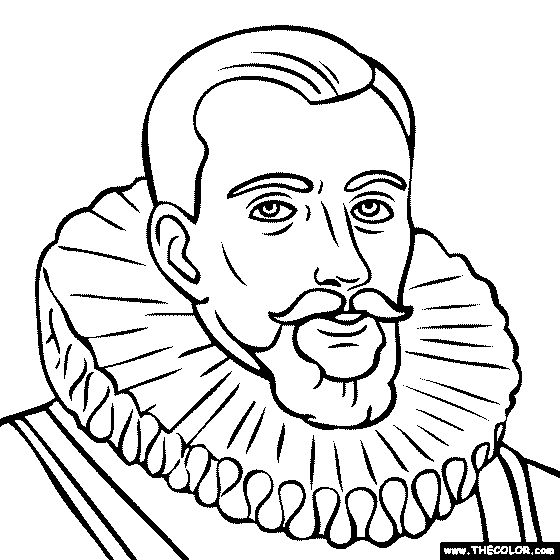 henry hudson coloring page