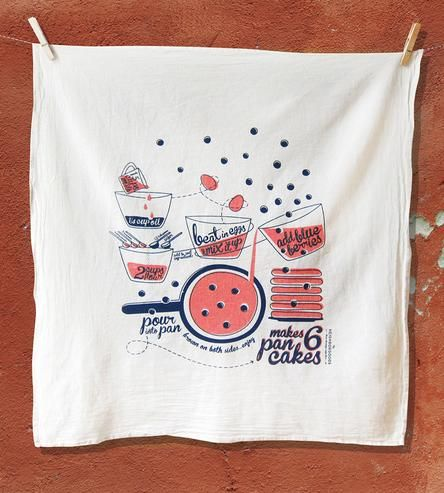 Pancake Recipe Kitchen Towel by The Neighborgoods on Scoutmob Shoppe