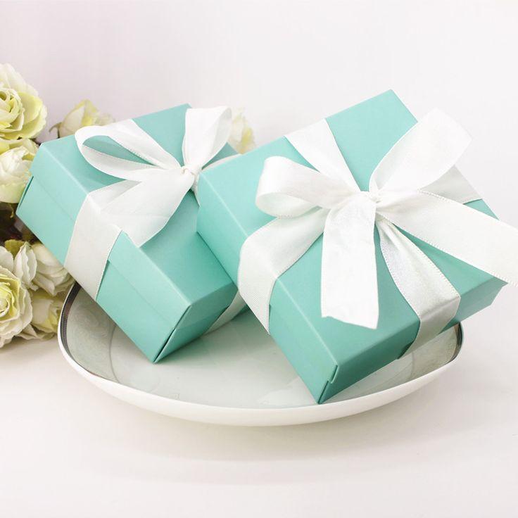 9.5*9.5*4.5 см 500 шт. Творческий SkyBlue Романтический конфеты коробка свадебные украшения/Свадебные Приглашения Сувениры/день рождения Подарки Упаковка