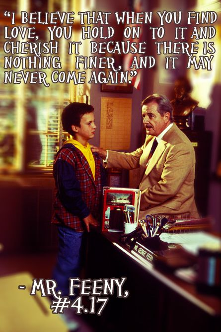 I wish I had Mr. Feeny to give me life advice