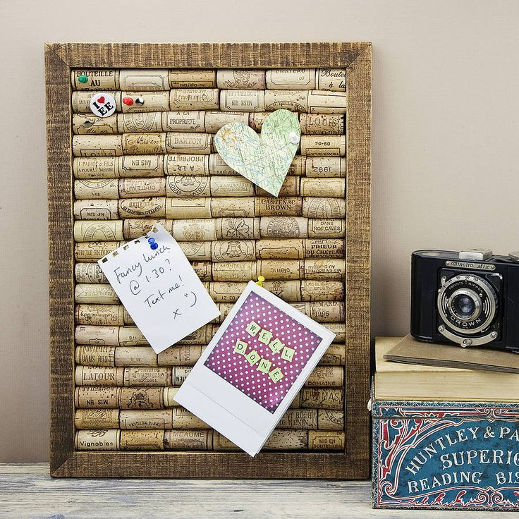 A3 Handmade Recycled Wine Cork Noticeboard