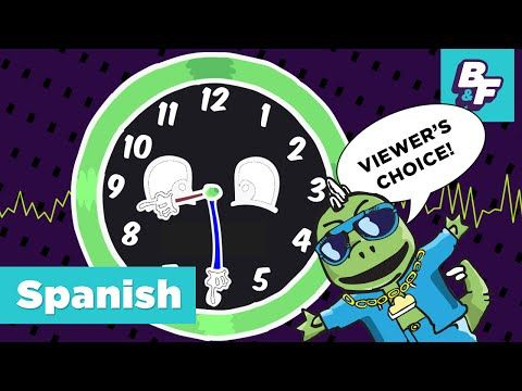 How to tell time in Spanish with BASHO & FRIENDS - ¿Qué hora es? - YouTube