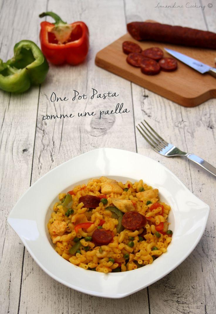 One pot pasta façon paella ! Rapide, savoureux et presque sans vaisselle ! ;-)