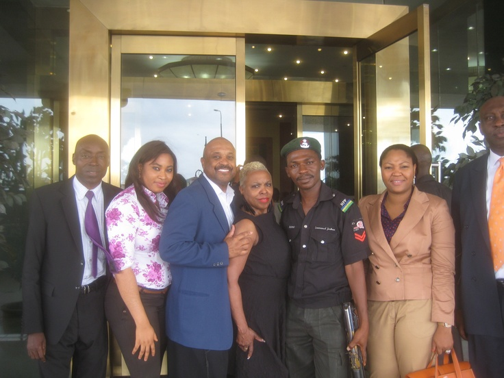 Willie and Dee Jolley with FirstBank of Nigeria's Welcoming Committee