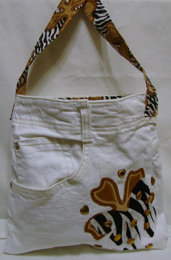 white denim tote bag