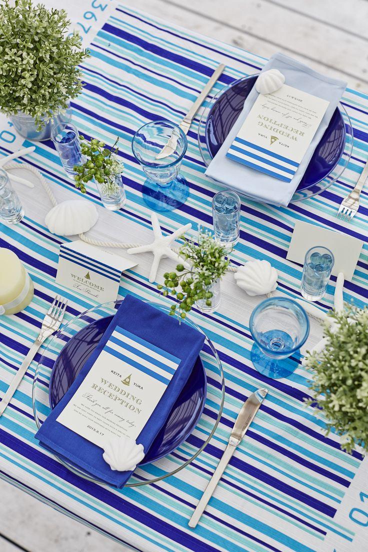 小物使いはセンスを左右するからオシャレにしたい*  クレイアートのヒトデ・貝を添えたら「海」が伝わる*  WeddingFactory http://www.weddingpartyfactory.com/