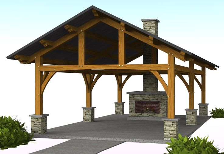 Vandever pavilion 16 39 x 30 39 timber frame pavilion for Pavillion house plans