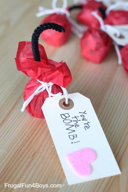 You Re The Bomb Handmade Valentines