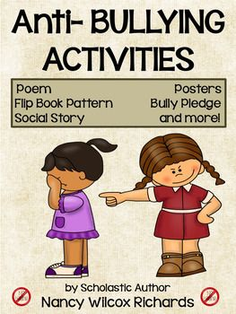 Use this anti-bullying resource to help raise the awareness about the effects of bullying. This resource includes:Bully/Buddy Writing Flip Book, Color and B&W (with pictured instructions)Poetry2 Super Hero PostersAnti-Bully PledgeDiscussion Cards