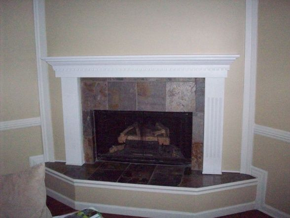 Pin by kathy crosby on fireplace refacing pinterest - How to reface a brick fireplace ...
