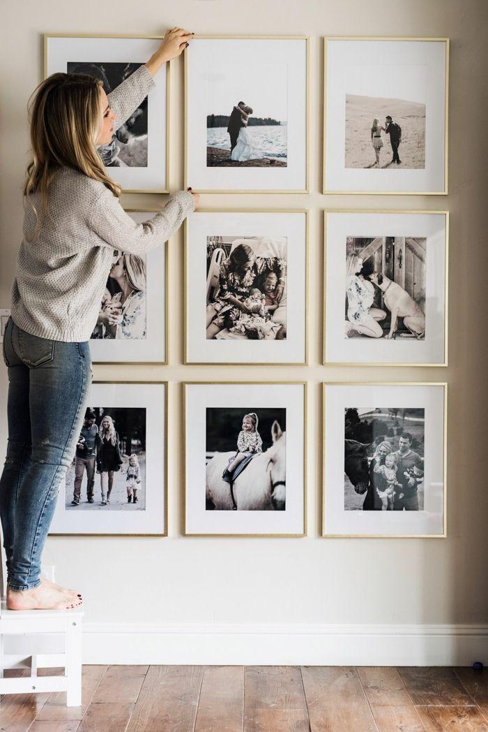 M s de 25 ideas incre bles sobre marcos de cuadros blancos - Cuadros con fotos familiares ...