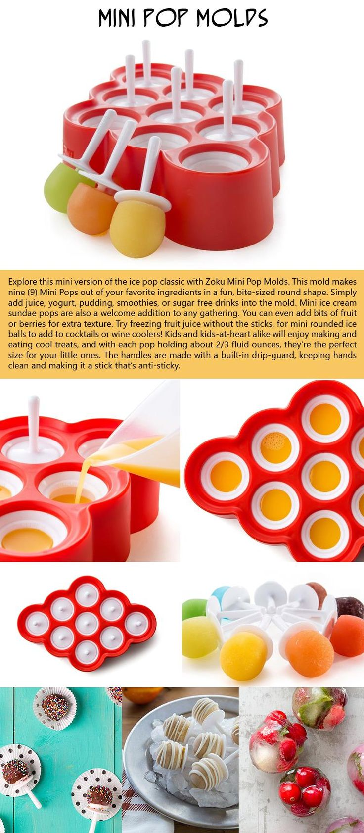 Mini Pop Molds