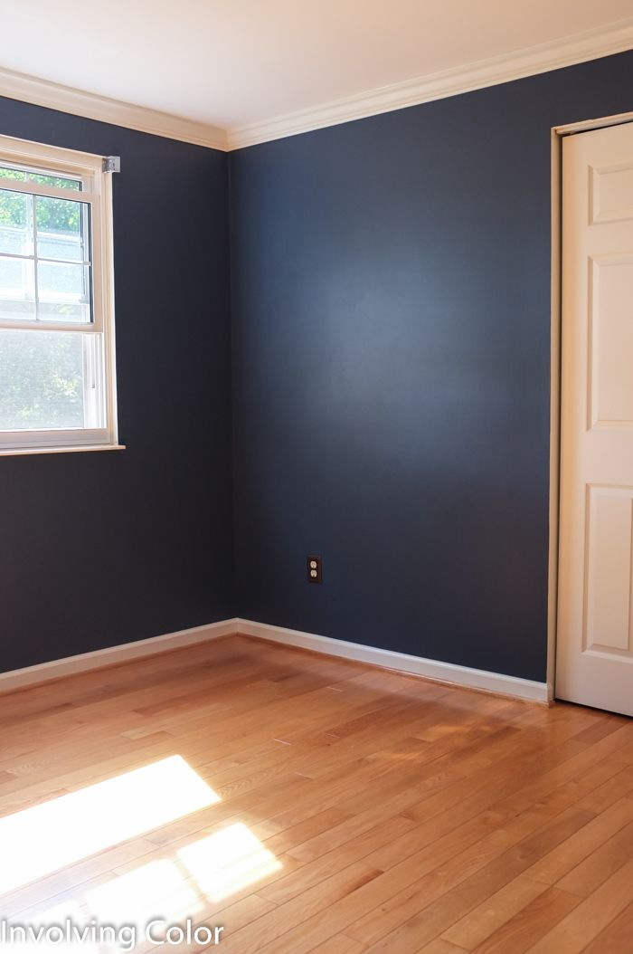 71 best color of the month navy images on pinterest for Wall colors for dark rooms