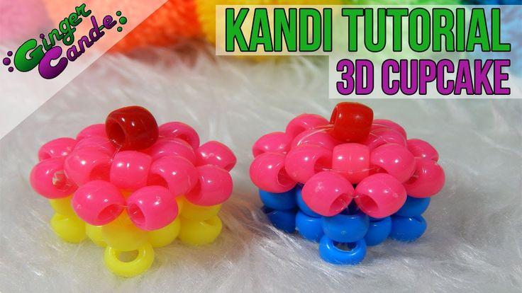 3D Kandi Cupcake - [Kandi Tutorial] | @GingerCandE