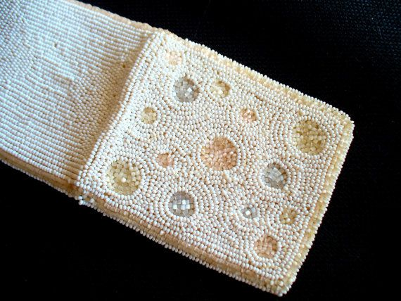 Beaded Wallet Vintage White from Belgium by wonderbarrel on Etsy, $30.00: Wallets, Etsy, Vintage White, Wonderbarrel Vintage, Beaded Wallet, Belgium, Vintage Finds, 30 00